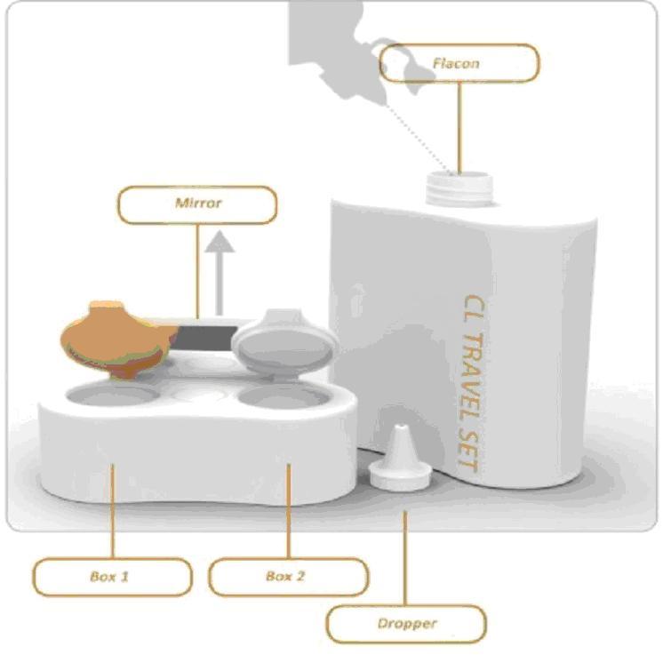 Contact lens holder, design by Orsolya Olasz