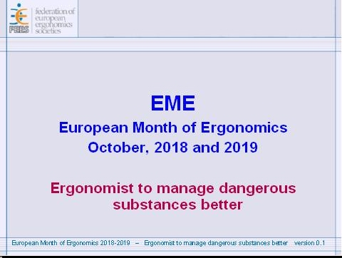 European Month of Ergonomics 2018 presentation